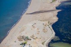 Iztuzustrand en de delta van Dalyan-rivier, Dalyan, Mugla Stock Afbeelding