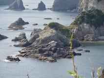 Picturesque Coast of Izu Peninsula stock image