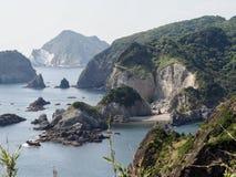 Picturesque Coast of Izu Peninsula stock images