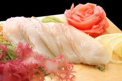 Izumitai del sashimi su un primo piano della scheda Fotografie Stock Libere da Diritti