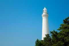 Izumo Hinomisaki Lighthouse in Shimane prefecture, Japan. The closest station for visiting here is JR Izumo station, and 45 minute. S bus ride. In summer time stock images