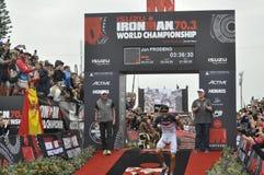 Izuzi ironman 70 3个世界冠军在伊莉莎白港在南非 库存图片