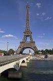 Jábega de la torre Eiffel foto de archivo