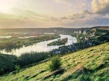 Jábega del río Foto de archivo libre de regalías