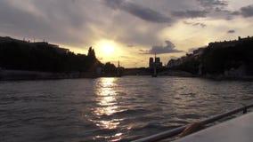 Jábega del río de París almacen de video