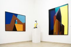 Modern art exhibition Royalty Free Stock Images