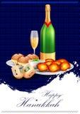 Jánuca feliz para Israel Festival de la celebración de las luces ilustración del vector