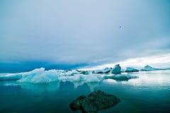Jökulsà ¡ rlà ³ n冰川盐水湖,冰岛 免版税库存照片