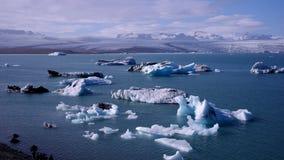 Jökulsà ¡ rlà ³ n,一个大冰河湖在冰岛 库存图片