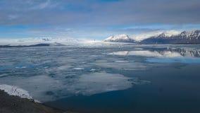 Jökulsà ¡ rlà ³ n Glacjalna laguna w Iceland zdjęcia stock