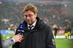Jürgen Klopp at Donbass Arena Royalty Free Stock Images