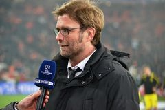 Jürgen Klopp at Donbass Arena Royalty Free Stock Photography
