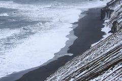 JökursÃ-¡ rlà ³ n: der Strand des Eisbergs, des Eises und der Kälte Stockbilder