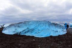 Jökursà ¡ rlà ³ n: het strand van icerber, ijs en koude Royalty-vrije Stock Foto