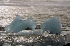Jökursà ¡ rlà ³ n: het strand van icerberg, ijs en koude Stock Afbeelding