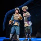 """Jägaren och hans dotter-Peking opera som """"Taking Tiger Montain By Strategyâ € Royaltyfri Bild"""