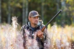 Jäger auf der Jagd stockbild