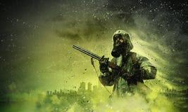 Jäger mit Gewehr stockfoto