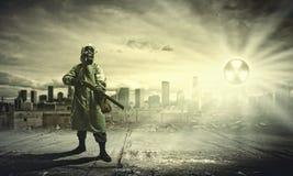 Jäger mit Gewehr Lizenzfreie Stockfotos