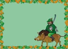 Jäger mit Rahmen des wilden Ebers Lizenzfreies Stockbild