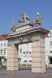Jäger versehen in Potsdam mit einem Gatter Lizenzfreie Stockbilder