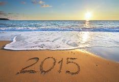 2015-jährig auf dem Meer Stockfoto