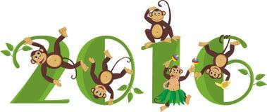 2016-jährig vom Affen Lizenzfreies Stockfoto