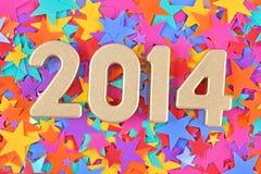 2014-jährige goldene Zahlen Lizenzfreies Stockbild