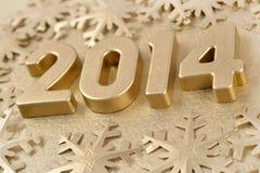 2014-jährige goldene Zahlen Stockfoto