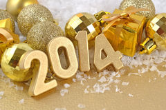 2014-jährige goldene Zahlen Lizenzfreies Stockfoto