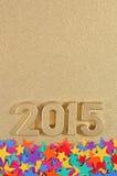 2015-jährige goldene Zahlen Lizenzfreie Stockfotografie