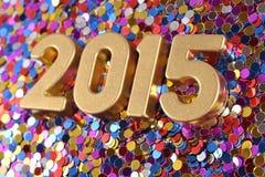 2015-jährige goldene Zahlen Lizenzfreie Stockbilder