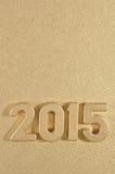 2015-jährige goldene Zahlen Stockfotografie
