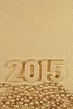 2015-jährige goldene Zahlen Stockfotos