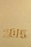 2015-jährige goldene Zahlen Stockfoto