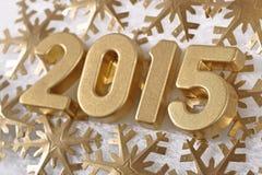 2015-jährige goldene Zahlen Lizenzfreies Stockfoto