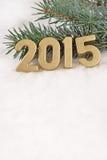 2015-jährige goldene Zahlen Lizenzfreie Stockfotos