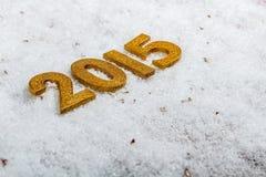 2015-jährige goldene Zahlen Lizenzfreies Stockbild