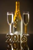 2016-jährige goldene Zahlen Stockbild