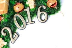 2016-jährige goldene Zahlen Lizenzfreies Stockfoto
