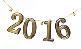 2016-jährige goldene Zahlen Stockfotos