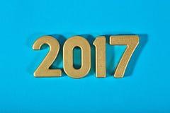 2017-jährige goldene Zahlen Lizenzfreie Stockfotos