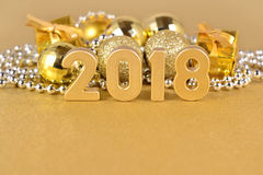 2018-jährige goldene Zahlen Stockfoto