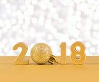 2018-jährige goldene Zahlen Lizenzfreie Stockbilder
