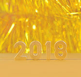 2018-jährige goldene Zahlen Stockfotografie