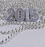 2015-jährige silberne Zahlen Lizenzfreies Stockbild