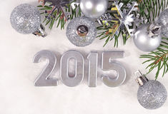 2015-jährige silberne Zahlen Stockfoto