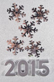 2015-jährige silberne Zahlen Lizenzfreie Stockfotografie