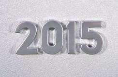 2015-jährige silberne Zahlen Stockfotos
