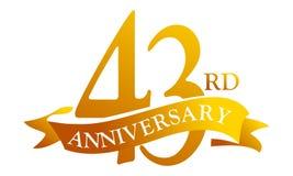 43-jähriger Band-Jahrestag stock abbildung